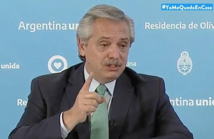 El Presidente Fernández anuncia hoy cómo continuará el aislamiento obligatorio